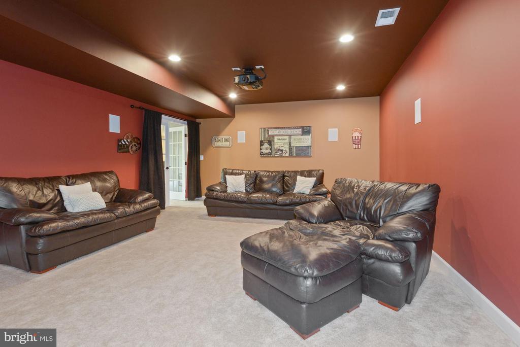 Media room in basement - 20669 PERENNIAL LN, ASHBURN