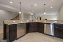 Bar area has refrigerator and dishwasher - 20669 PERENNIAL LN, ASHBURN