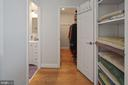 Primary BR walk-in closet & bath - 501 SLATERS LN #123, ALEXANDRIA