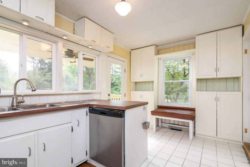 The Kitchen features views of the side and backyar - 3635 BUCKEYSTOWN PIKE, BUCKEYSTOWN