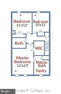 Upper Level Floor Plan - 21115 FIRESIDE CT, STERLING