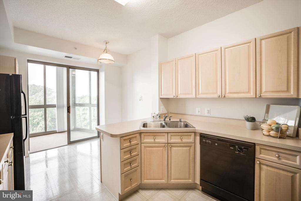 Bright & Sunny kitchen with space for a table - 19355 CYPRESS RIDGE TER #823, LEESBURG