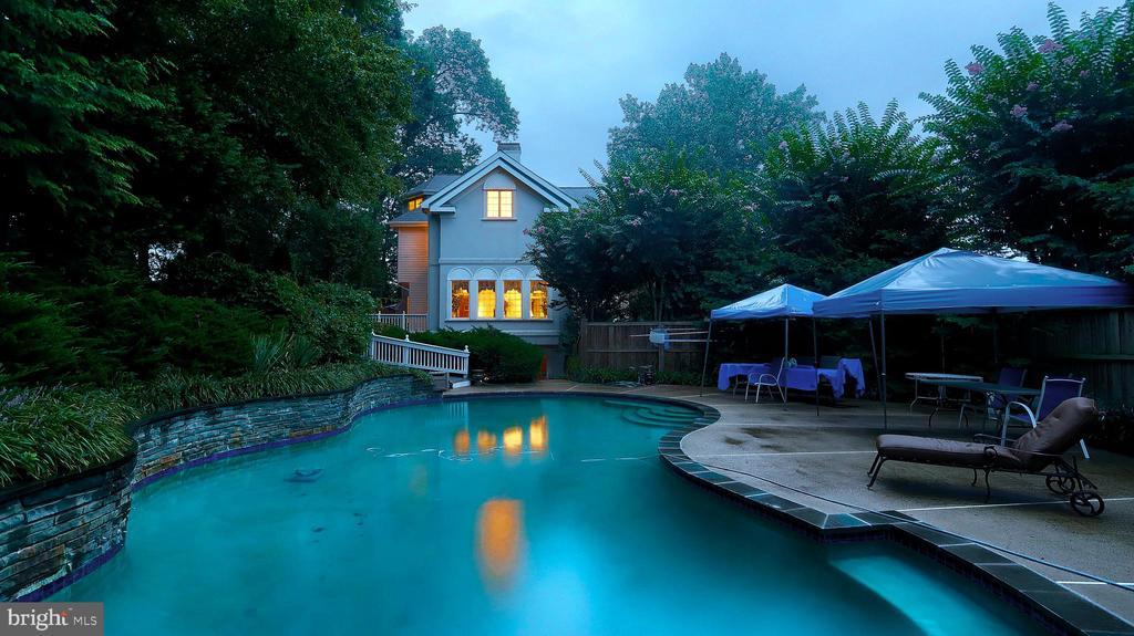 Large -45x22, very private pool w/ ramp to deck. - 1414 WYNHURST LN, VIENNA
