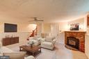 Recreation Room w/ fireplace - 2706 CORTLAND PL NW, WASHINGTON