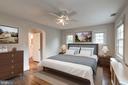 Custom built-in closets & ceiling fan in Master BR - 2706 CORTLAND PL NW, WASHINGTON
