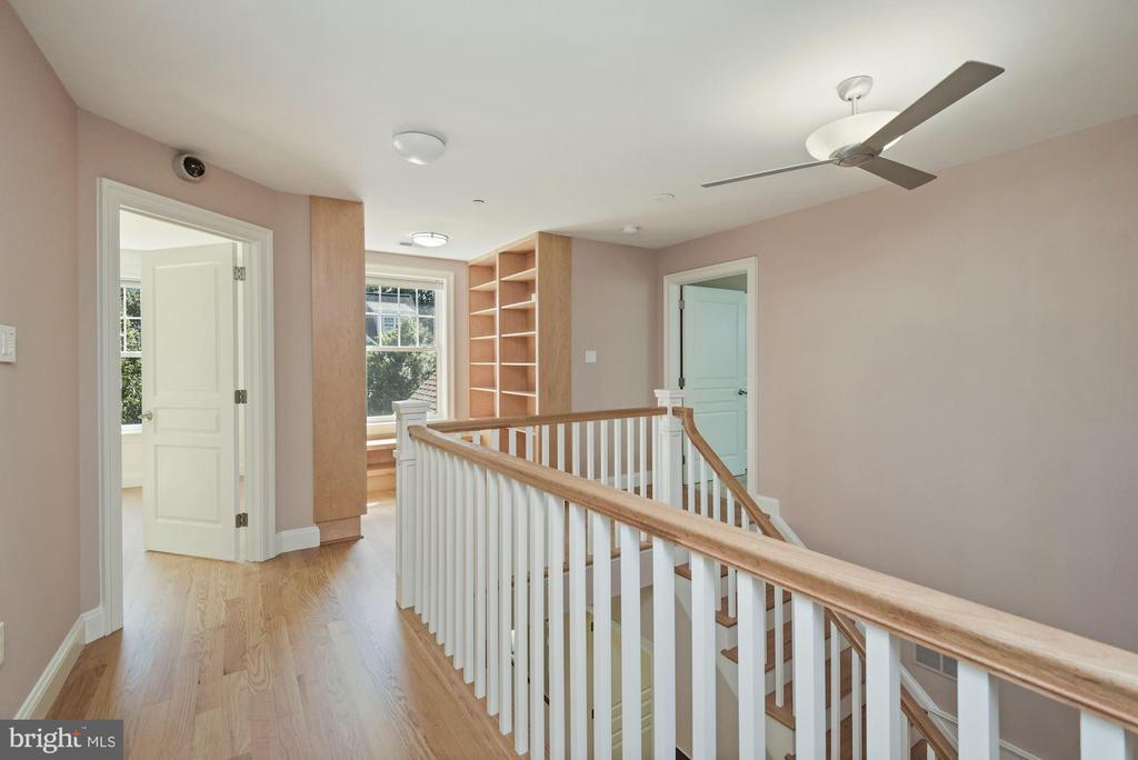 2nd Floor Landing with Built-Ins - 1903 KERMIT RD, SILVER SPRING