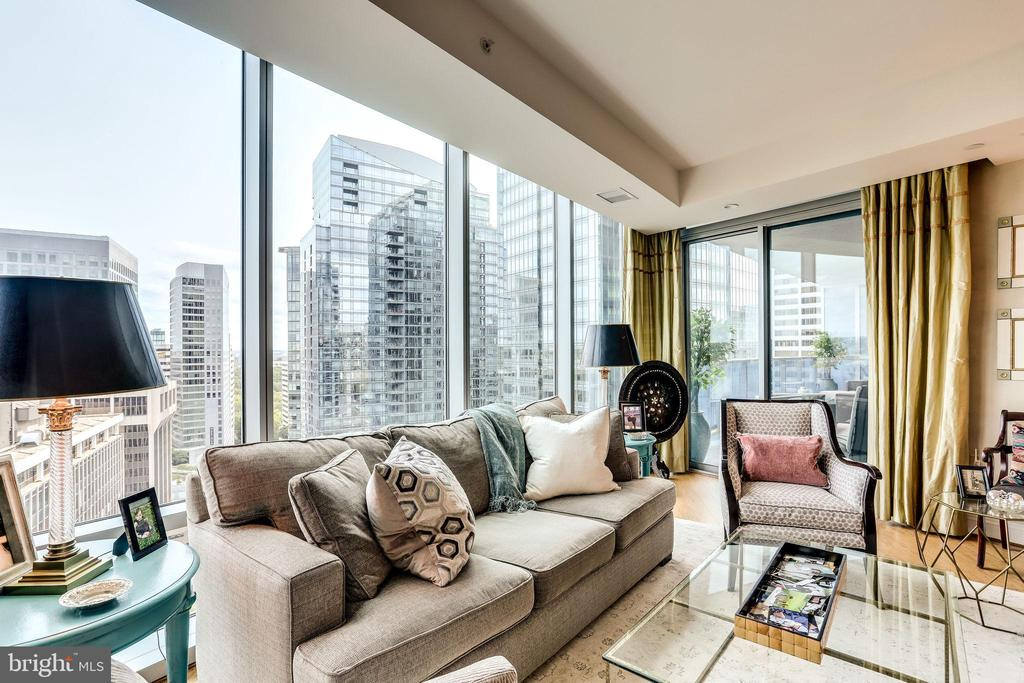 Sweeping Views From Living Area And Balcony - 1881 N NASH ST #1411, ARLINGTON