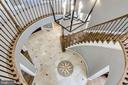 Showstopping staircase and light fixture - 2124 POLO POINTE DR, VIENNA