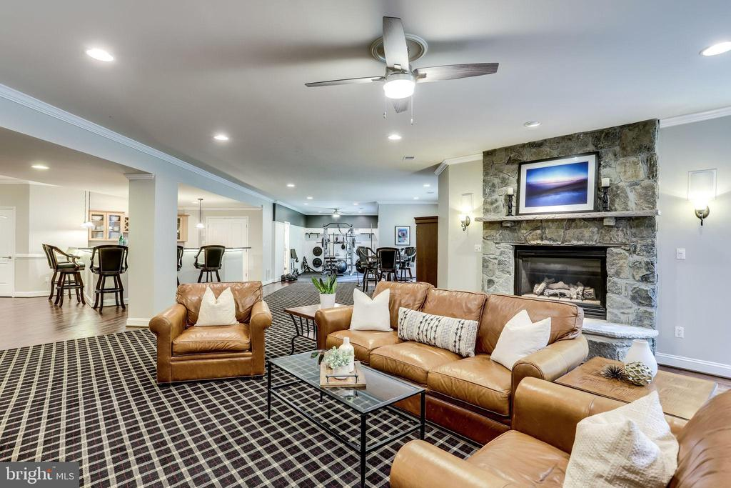 So much room in this large open basement - 2124 POLO POINTE DR, VIENNA