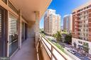 Large Balcony Accessed from L.R. and Master B.R. - 888 N QUINCY ST #512, ARLINGTON