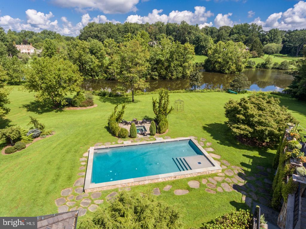 Pool and Lake - 626 PHILIP DIGGES DR, GREAT FALLS