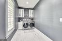 Laundry room with plumbing for utility sink - 40850 ROBIN CIR, LEESBURG