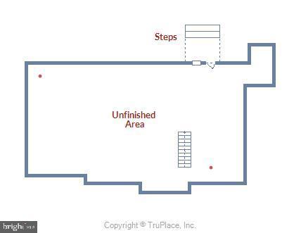 Lower level floor plan - 15901 EDGEWOOD DR, DUMFRIES