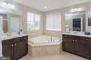 Master Bathroom w/ Soaking Tub and Dual Vanity - 24656 JACKALOPE TER, ALDIE