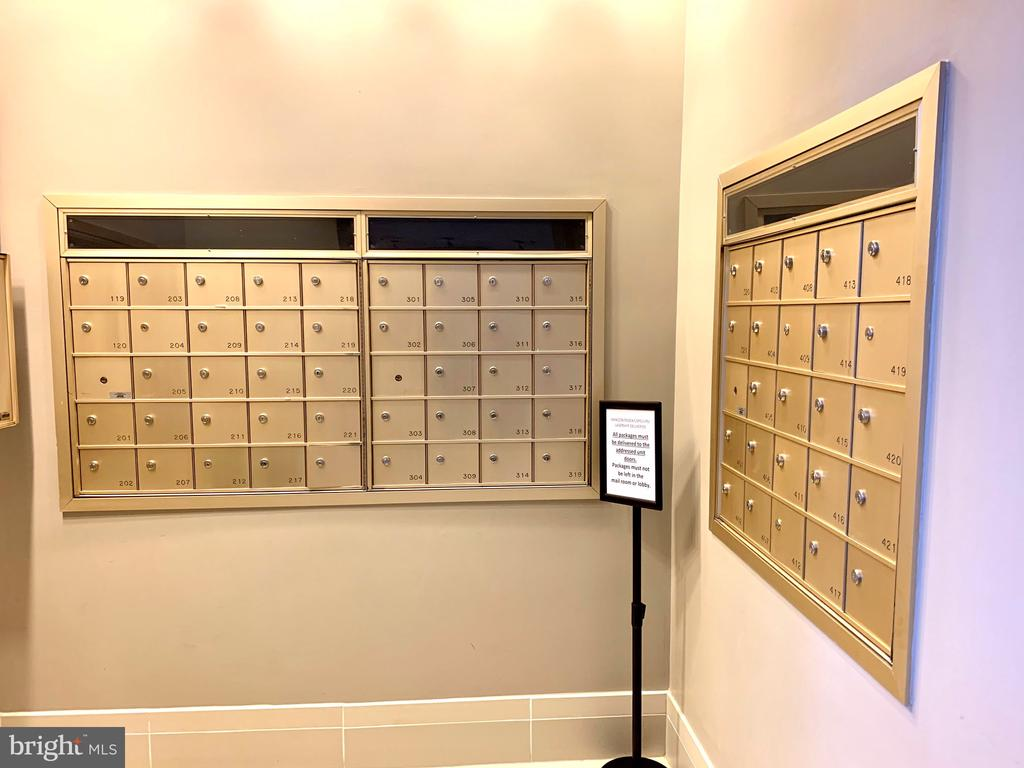 Mailbox in lobby - 1625 INTERNATIONAL DR #412, MCLEAN