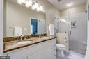 Renovated upper level bathroom - 2124 POLO POINTE DR, VIENNA