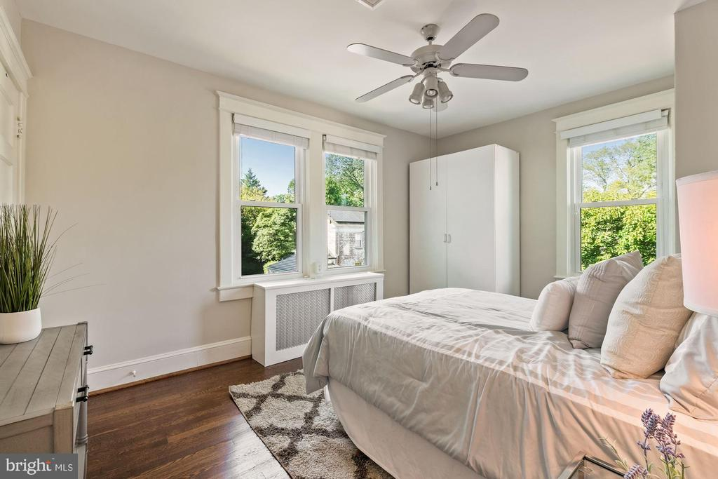 3rd bedroom with 2 closets - 4111 LEGATION ST NW, WASHINGTON