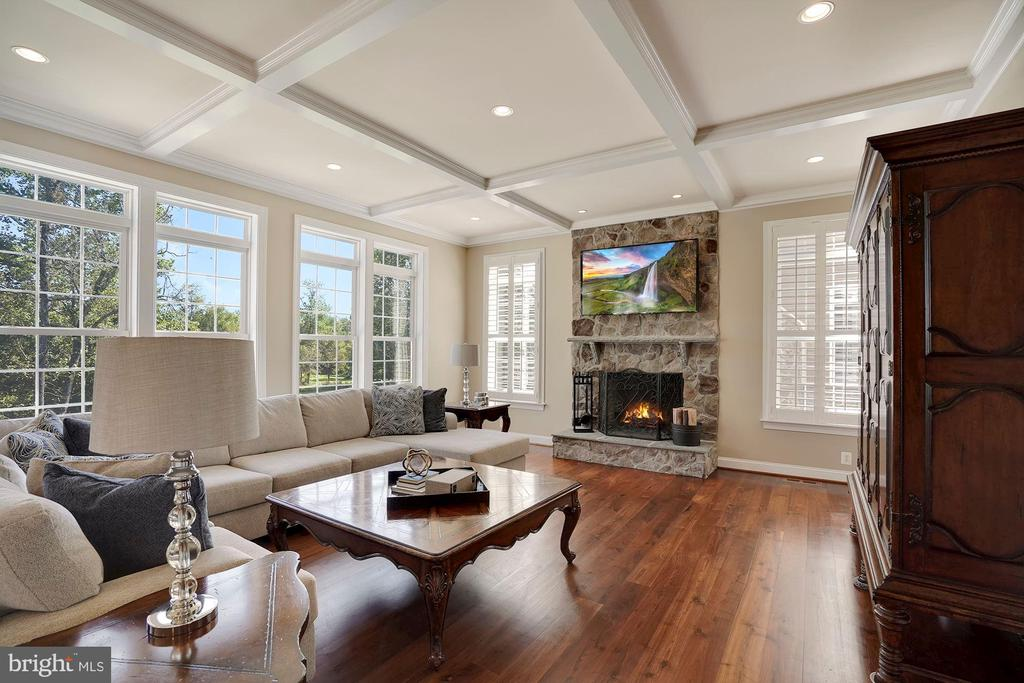 Beautiful Family Room with Stone Fireplace - 44220 RIVERPOINT DR, LEESBURG