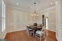 Large Dining Room with Custom Molding and Trim - 44220 RIVERPOINT DR, LEESBURG