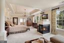 Master Bedroom with Fireplace - 44220 RIVERPOINT DR, LEESBURG