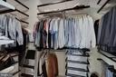 Master Bedroom Closet #1 w/Custom Built-Ins - 44220 RIVERPOINT DR, LEESBURG