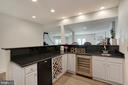 Full Bar with Wine Cooler and Mini Fridge - 44220 RIVERPOINT DR, LEESBURG