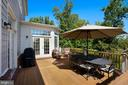Exterior Composite Deck Overlooking Yard and Golf - 44220 RIVERPOINT DR, LEESBURG