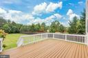 Large Rear Deck - 22151 WINTER LAKE CT, ASHBURN