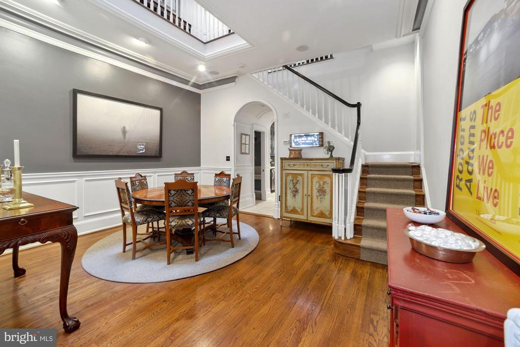 Elegant dining room with 4 story skylight! - 1310 RHODE ISLAND AVE NW, WASHINGTON
