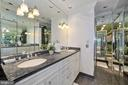 Elegant master bathroom with double vanity - 1310 RHODE ISLAND AVE NW, WASHINGTON