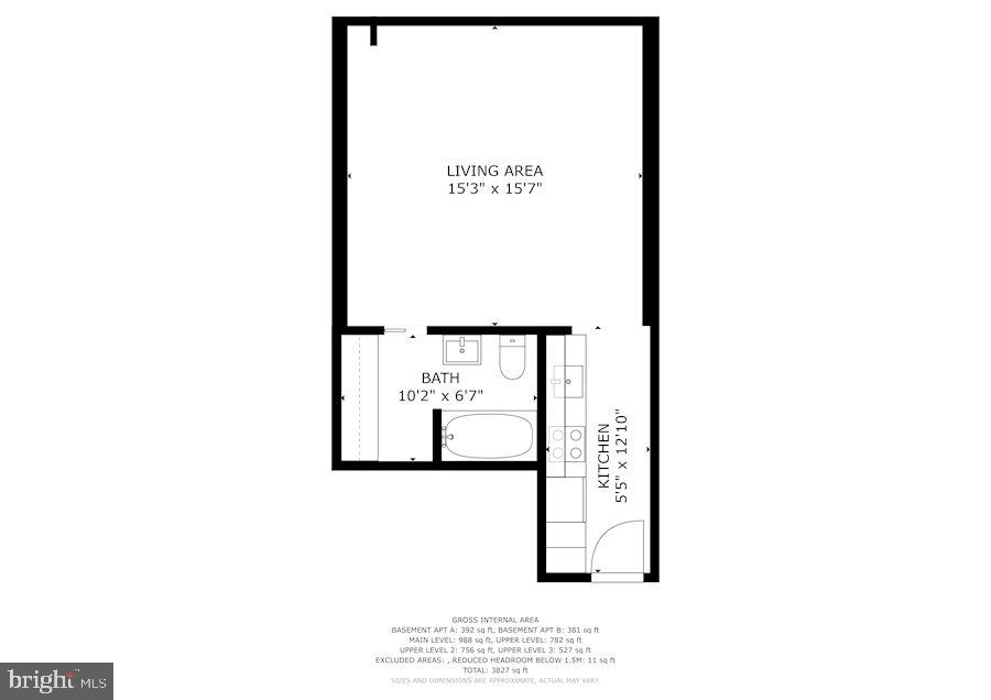 Apartment B - 1310 RHODE ISLAND AVE NW, WASHINGTON