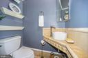 Powder room off of kitchen bar - 1310 RHODE ISLAND AVE NW, WASHINGTON