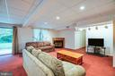 This lower level Rec Room offers cozy fireplace - 6300 MARYE RD, WOODFORD