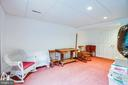 Lower Level Bedroom #5 w/ private storage room - 6300 MARYE RD, WOODFORD