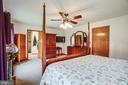 Primary Bedroom features ensuite bath - 6300 MARYE RD, WOODFORD