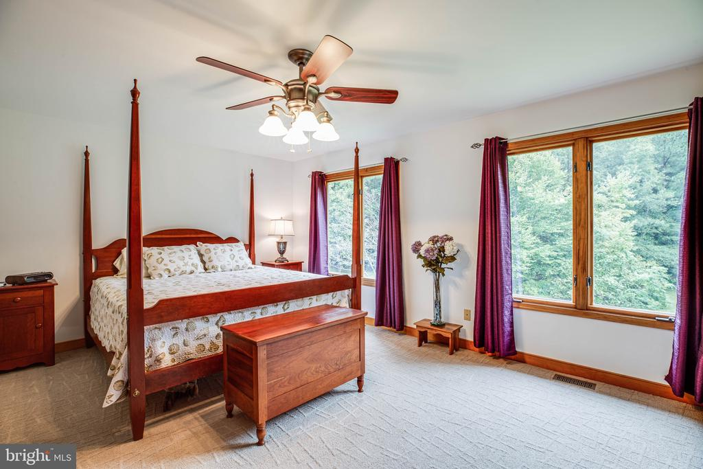 Primary Bedroom w/ gorgeous views of property - 6300 MARYE RD, WOODFORD