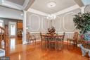 Hardwood floors and stylish detailed moulding - 4372 PATRIOT PARK CT, FAIRFAX