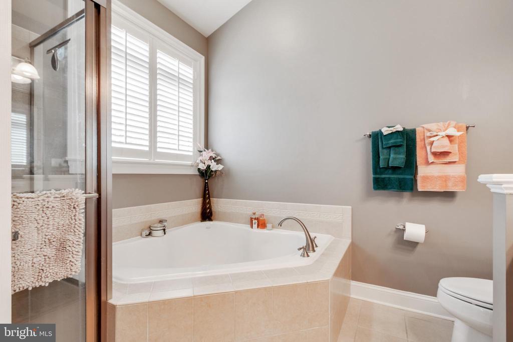 Soaking Tub and separate shower - 4372 PATRIOT PARK CT, FAIRFAX