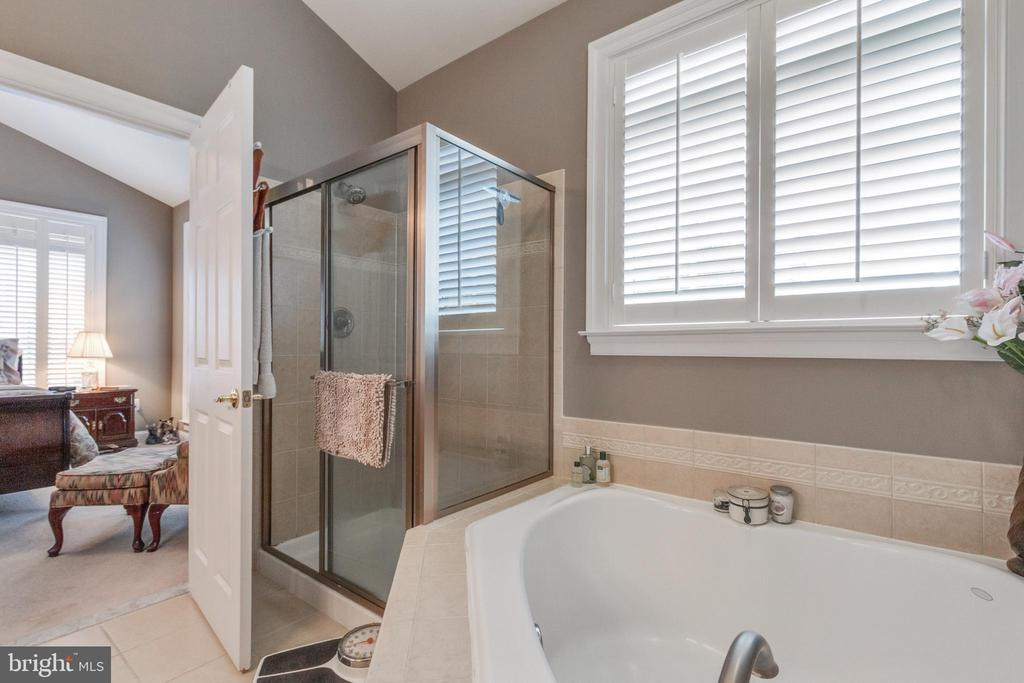 Master bath with soaking tub and separate shower - 4372 PATRIOT PARK CT, FAIRFAX