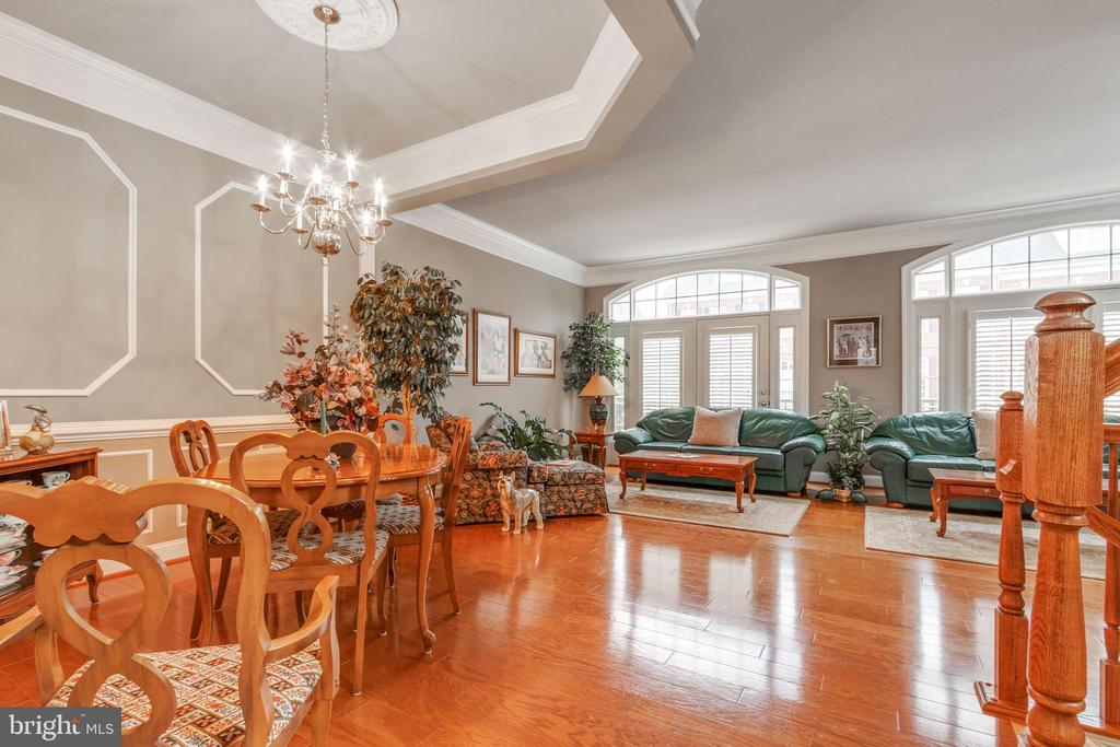 Luxurious main level with classic finishes - 4372 PATRIOT PARK CT, FAIRFAX