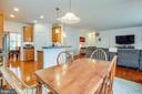 Kitchen open to family room - 1916 MEADOW LARK DR, CULPEPER