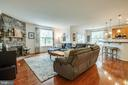 Stone Fireplace in Family room - 1916 MEADOW LARK DR, CULPEPER