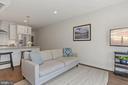 Living Room - High-End Hardwood Floors! - 2337 CHAMPLAIN ST NW #104, WASHINGTON