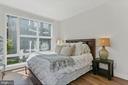 Bedroom - Stunning Geometric Wall of Windows! - 2337 CHAMPLAIN ST NW #104, WASHINGTON