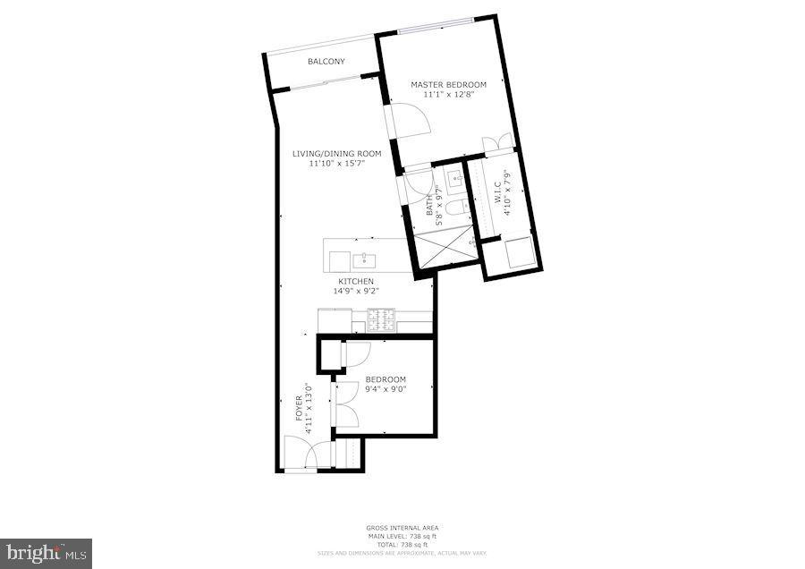 Floor Plan of Home - 2337 CHAMPLAIN ST NW #104, WASHINGTON