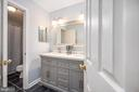 Upper hall full bath double vanity - 5 JAMESTOWN CT, STAFFORD