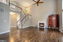 Ceiling fan and gas fireplace with marble surround - 5 JAMESTOWN CT, STAFFORD