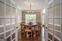 French doors off dining room - 5 JAMESTOWN CT, STAFFORD