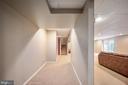 Basement hallway view - 5 JAMESTOWN CT, STAFFORD