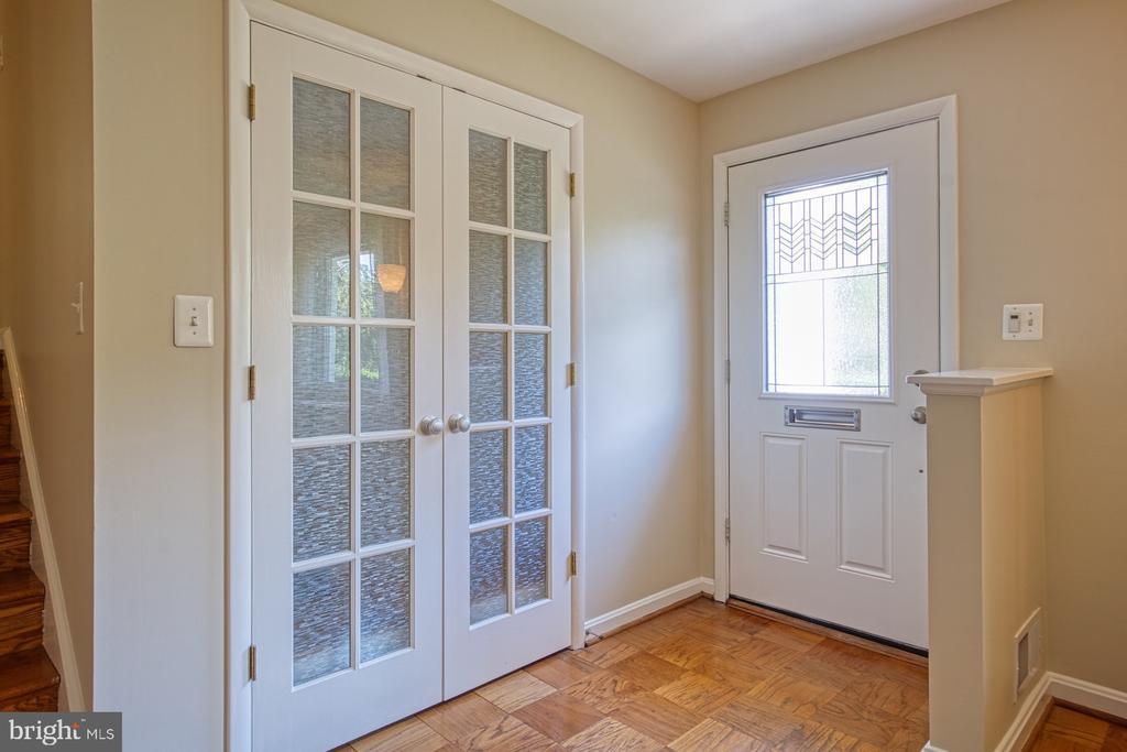 Foyer with Large Double Door Coat Closet - 3130 VALLEY LN, FALLS CHURCH